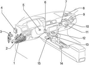 Toyota Camry XV20 (1996-2001) Fuse Diagram • FuseCheck.com