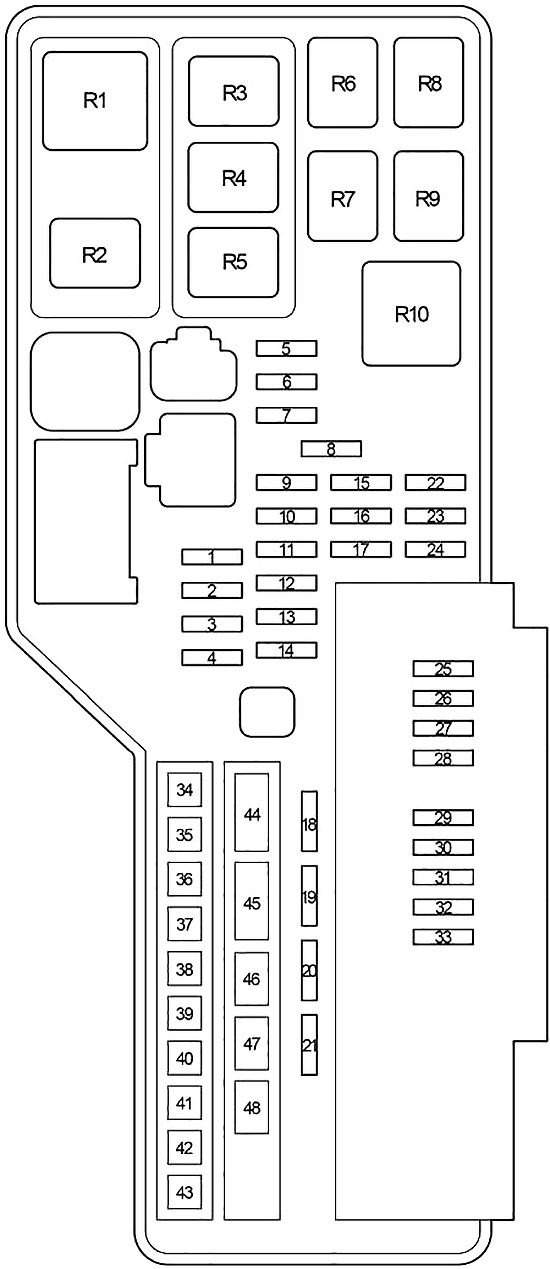 Toyota Camry (XV40) (2007-2011) Fuse Diagram • FuseCheck.com