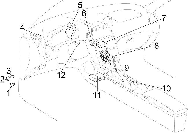 Toyota Celica (1999-2005) Fuse Diagram • FuseCheck.com