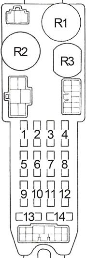 Toyota Corolla (AE86) (1983-1987) Fuse Diagram • FuseCheck.com