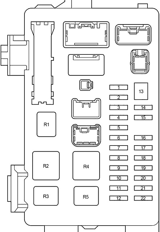 Toyota Corolla Verso (AR10) (2004-2009) Fuse Diagram