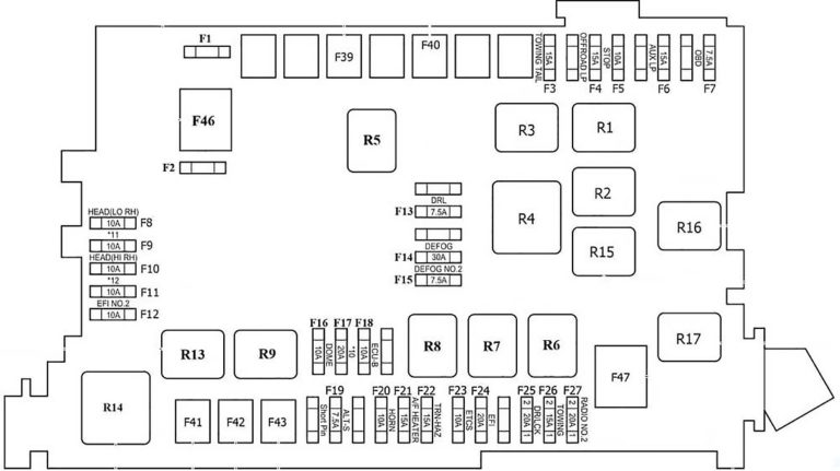 Toyota FJ Cruiser (2006-2014) Fuse Diagram • FuseCheck.com