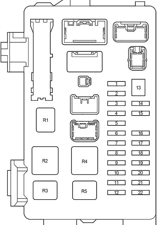 Toyota Ipsum, Avensis Verso, Picnic (2001-2009) Fuse