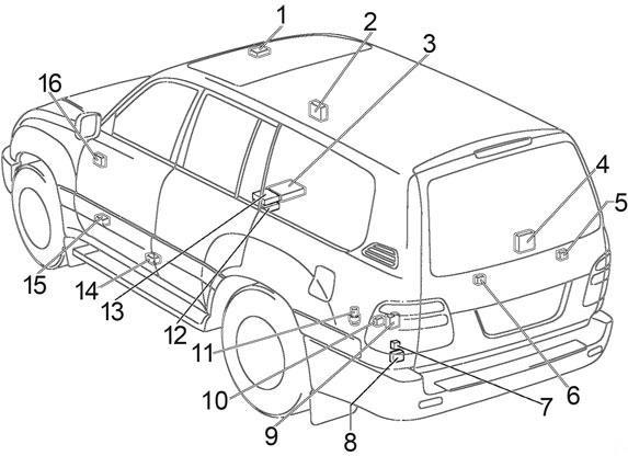 Toyota Land Cruiser 100 (1998-2003) Fuse Diagram