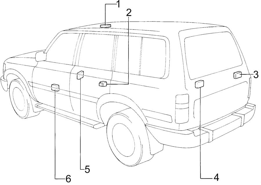 Toyota Land Cruiser 80 (1990-1997) Fuse Diagram