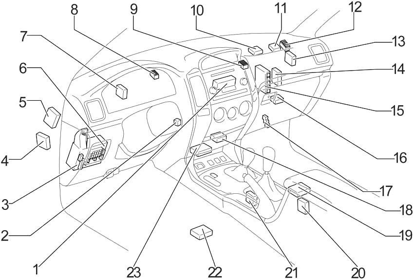 Toyota Land Cruiser Prado (J120) (2002-2009) Fuse Diagram