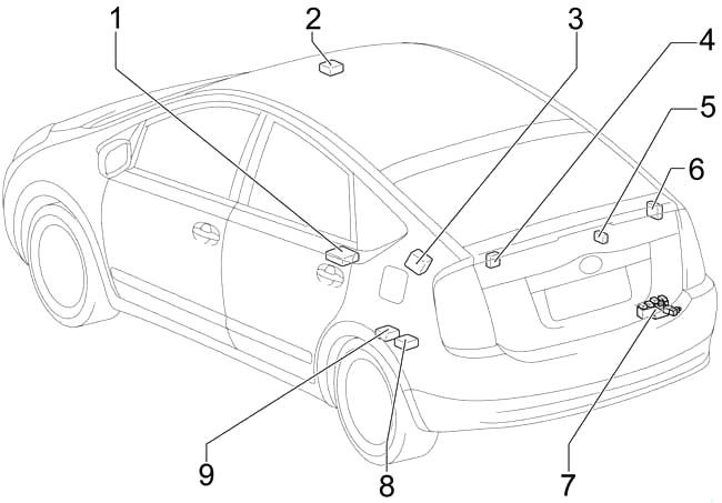 Toyota Prius (XW20) (2003-2009) Fuse Diagram • FuseCheck.com
