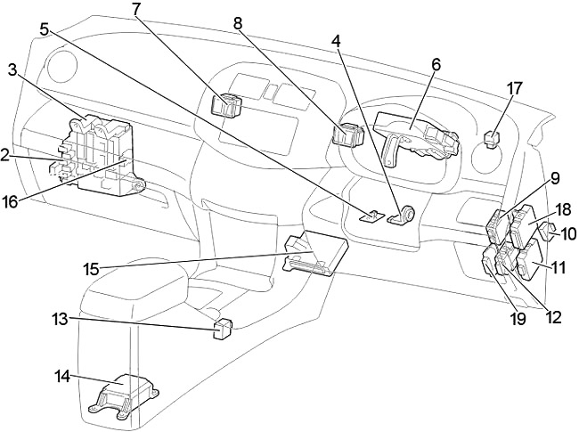 Toyota RAV4 (XA30) (2006-2012) Fuse Diagram • FuseCheck.com