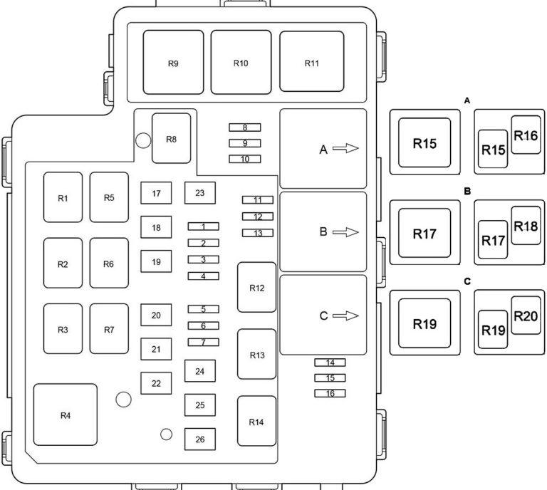 Toyota RAV4 (XA40) (2013-2018) Fuse Diagram • FuseCheck.com