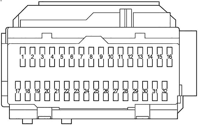 Toyota Sienna (XL20) (2003-2010) Fuse Diagram • FuseCheck.com