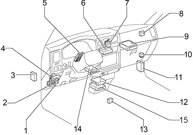 Toyota Tacoma (2001-2004) Fuse Diagram • FuseCheck.com