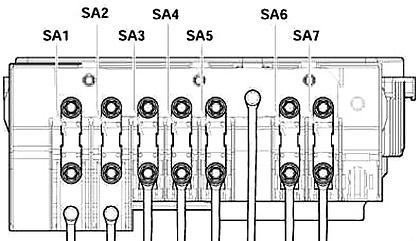 Volkswagen Golf Mk5 (1K) (2003-2009) Fuse Diagram