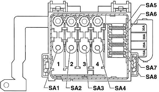 Volkswagen Lupo (1998-2005) Fuse Diagram • FuseCheck.com