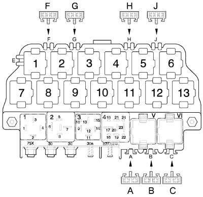 Volkswagen New Beetle (1997-2010) Fuse Diagram • FuseCheck.com
