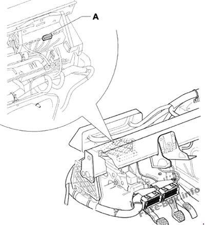 Fuse Box Diagram Volkswagen Fox (5Z; 2004-2009)