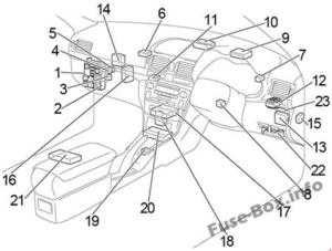 Fuse Box Diagram Toyota Avensis II (T25/T250; 2003-2009)