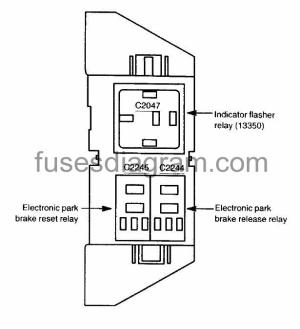 Fuses and relays box diagram Ford Expedition 2