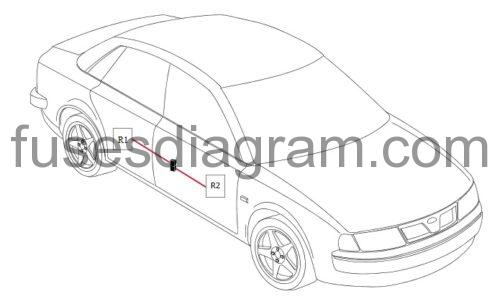 Fuse and relay box diagram BMW 3 E46