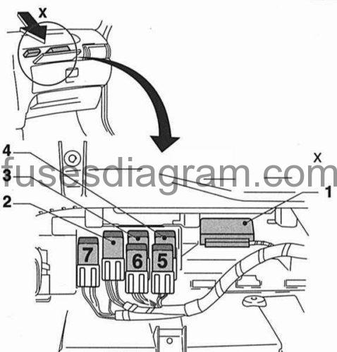 opel astra glove box fuse