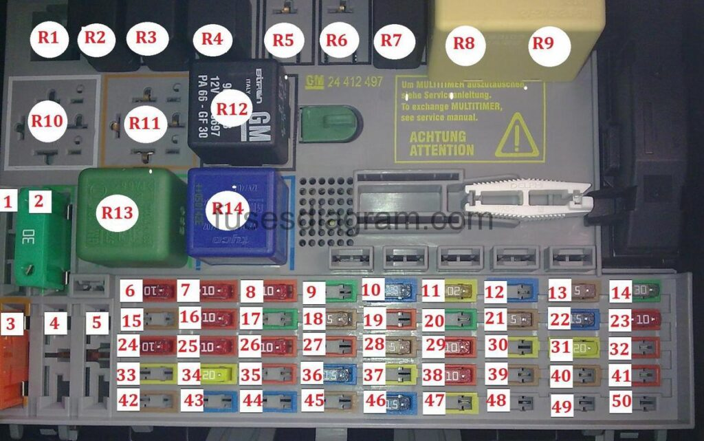 Opel Zafira A Fuse Box - Wiring Diagram Section on