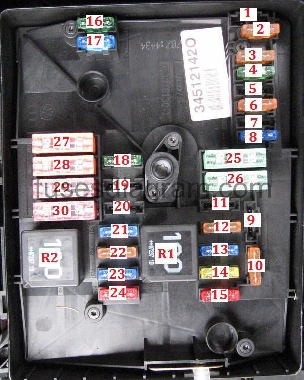 mk5 golf engine bay fuse box