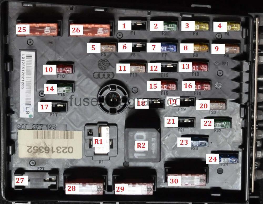 2013 passat tdi fuse diagram viper alarm 5701 wiring box volkswagen b6
