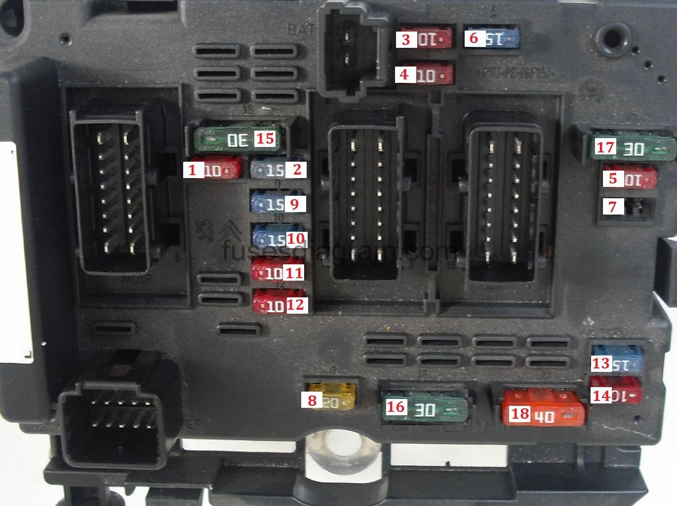 hight resolution of fuse box peugeot 206 2001 peugeot 206 cc fuse box diagram