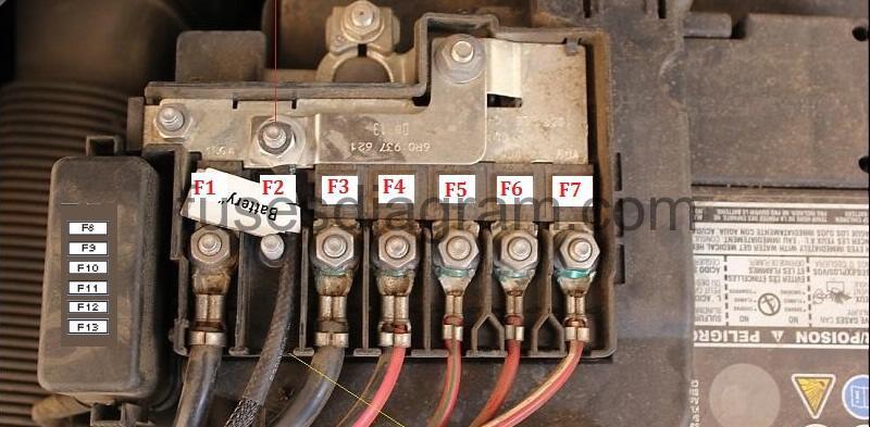 vw alternator wiring diagram goodman air handler keeps running fuse box volkswagen polo 6r