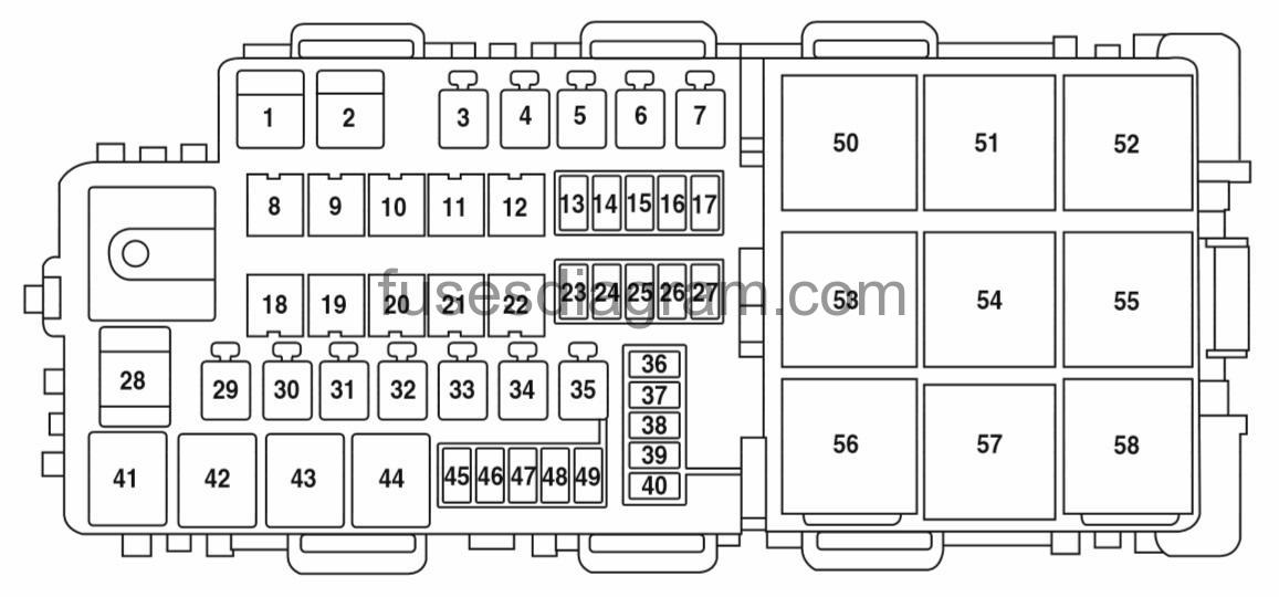 2006 Ford Focus Fuse Box Diagram Only