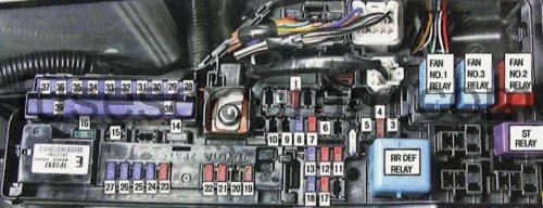 2011 Camry Engine Diagram Fuse Box Toyota Camry Xv40