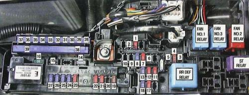 small resolution of fuse box toyota camry xv40 2007 toyota corolla fuse diagram corolla fuse box diagram
