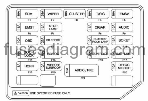 Relay 2006 Chevy Aveo Fuse Box. Diagram. Auto Fuse Box Diagram