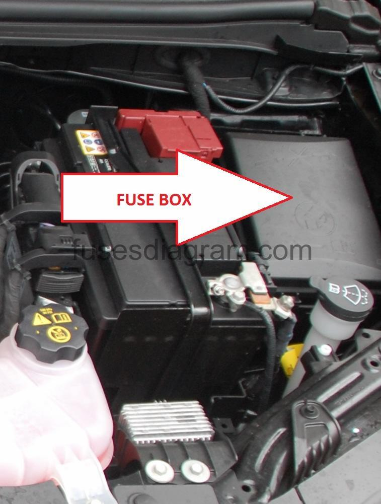 2008 Chevrolet Aveo Sedan Front Fuse Box Diagram