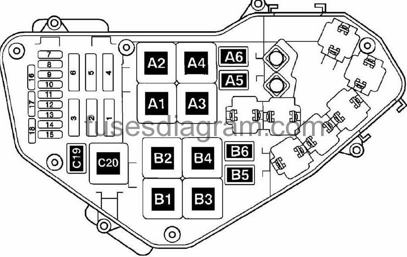 2004 volkswagen touareg fuse box location