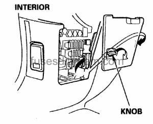 1998 Honda Crv Interior Fuse Box Diagram
