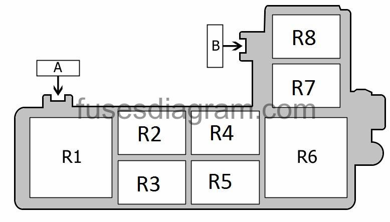 medium resolution of fuse a no information is available fuse b no information is available relay r1 blower relay relay r2 fuel pump relay no 2 or not used