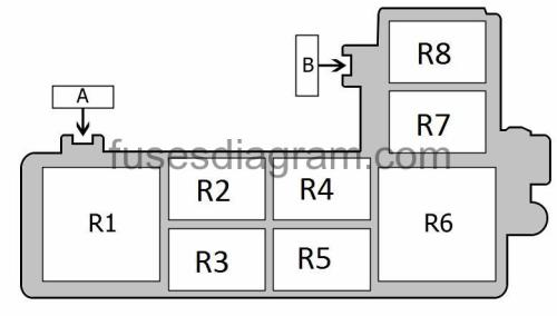 small resolution of fuse a no information is available fuse b no information is available relay r1 blower relay relay r2 fuel pump relay no 2 or not used