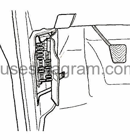 2002 Hyundai Elantra Interior Fuse Box Diagram