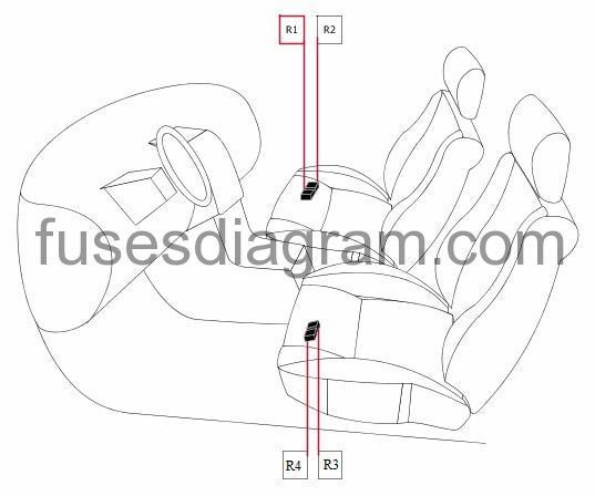 Fuse box diagram Honda CR-V