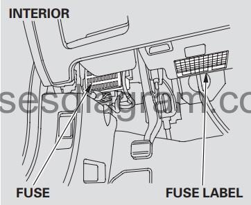 Fuse box diagram Honda CR-V