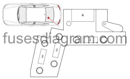 Fuse box diagram Audi A8 (D4)