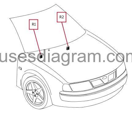 Fuse box diagram BMW 7 E38
