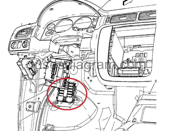 Fuse box diagram Chevrolet Silverado 2007
