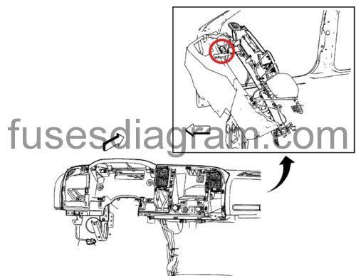 Fuse box diagram Chevrolet Silverado 2010-2013