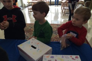 children work together on special projects