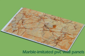 Marble-initated wall panel