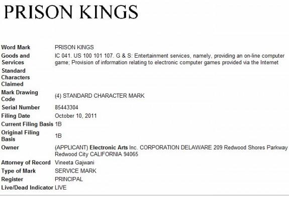 Prison Kings trademark