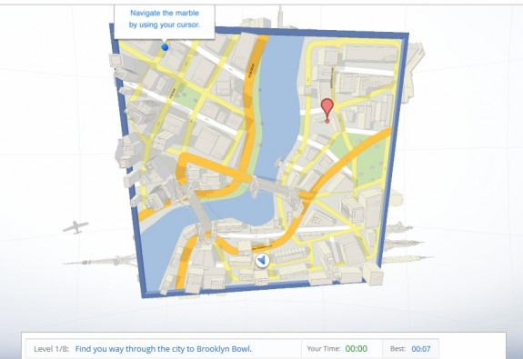 Google Maps Cube game