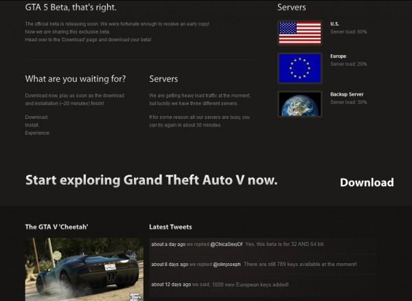 GTA V Beta Download scam website