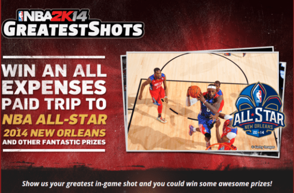 NBA 2K14 Greatest Shots home page